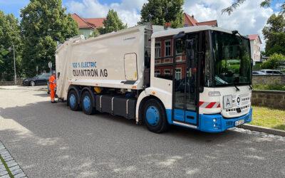 Geräuscharm und emissionsfrei: SSR Schmalkalden Stadtreinigung testet 14 Tage Elektro-Müllfahrzeug